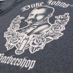 Barbershop Tshirt grau Detail