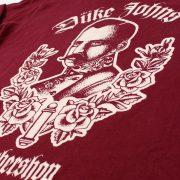 Barbershop Tshirt rot Detail